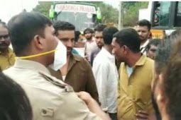 Time Keeping row-case against 2 bus drivers | ಟೈಂ ಕೀಪಿಂಗ್ ಗಲಾಟೆ- ಖಾಸಗಿ ಬಸ್ ಸಿಬ್ಬಂದಿ ಹೊಡೆದಾಟ: ಎರಡೂ ಬಸ್ ವಶಕ್ಕೆ ಪಡೆದ ಪೊಲೀಸರು