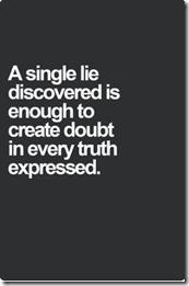 single lie