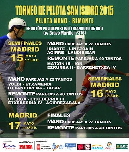 I Torneo de Pelota de San Isidro, en Tetuán