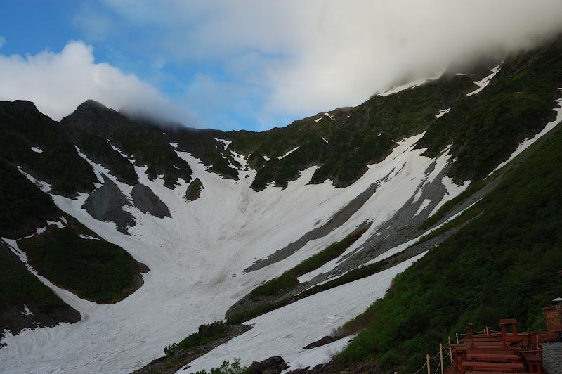 前穂高岳方面