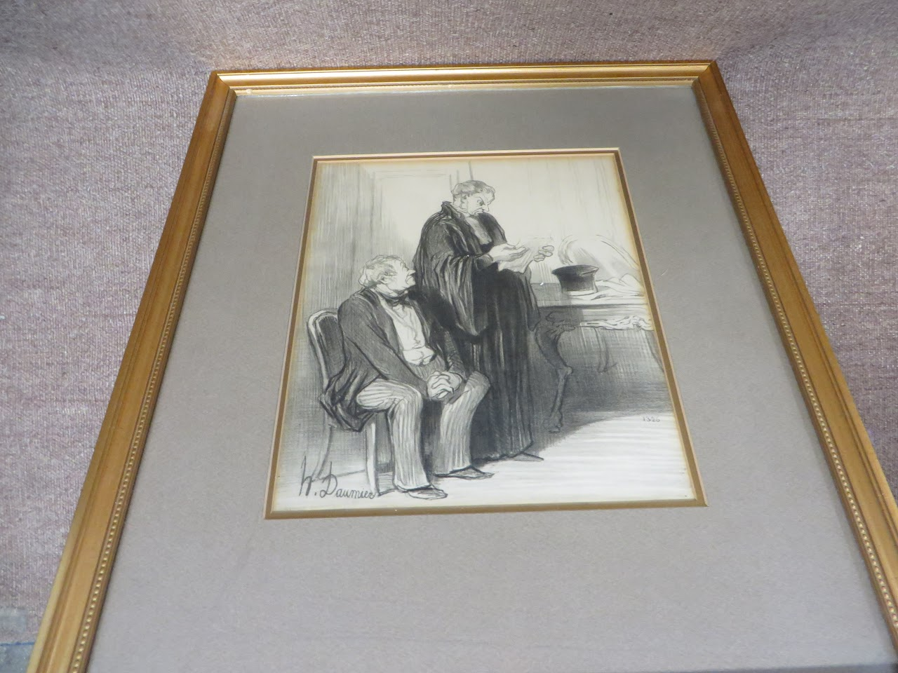 Honoré Daumier Numbered Etching