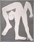 Pablo Picasso: Akrobata, 1930 olaj, vászon, 162 x 130 cm (Musée national Picasso-Párizs Pablo Picasso hagyaték, 1979. MP120  (Fotó: © RMN-Grand Palais Musée national Picasso-Paris)/René-Gabriel Ojéda ©2016 – Succession Pablo Picasso – HUNGART)