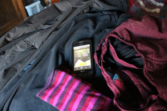 cellphone and mom clothes