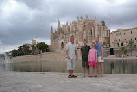 Den stora katedralen i palma...