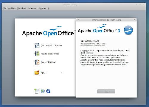 Apache OpenOffice 3.4 su Ubuntu