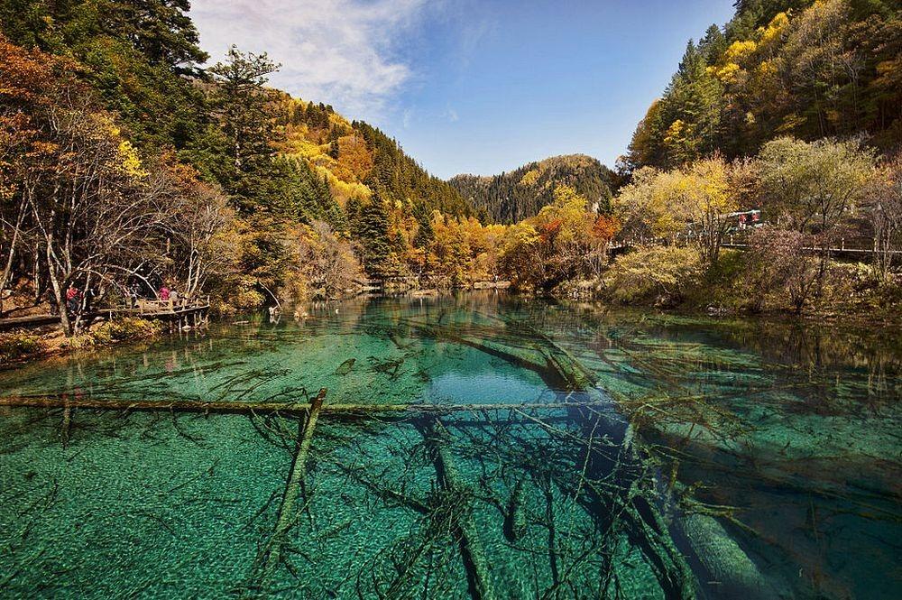 Danau Alpine Dan Air Terjun Jiuzhaigou