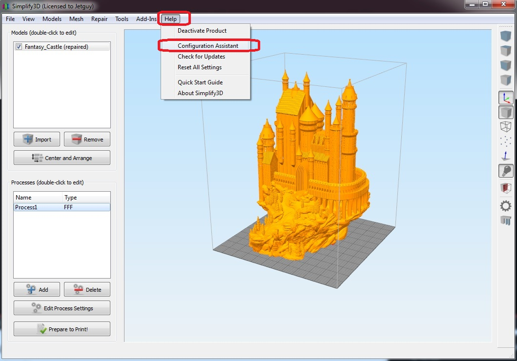Wanhao Duplicator 4/4X/4S Simplify 3D choosing correct printer type