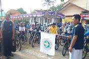 HGN, Anggota PGRI Cilamaya Kulon Gowes Bareng