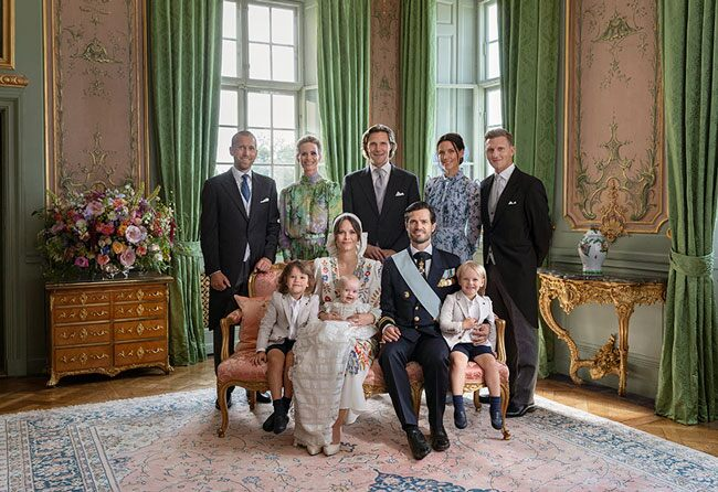 Princess Sofia and Prince Carl Philip look Picture Perfect in Prince Julian's Christening Photos