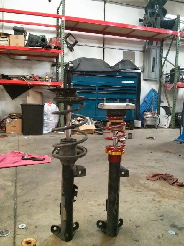 Shorter E36 front struts without custom fabrication
