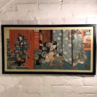 Utagawa Kunisada (Toyokuni III) Woodblock Triptych
