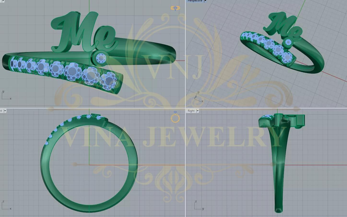 Thiết kế trang sức theo vẽ mẫu vẽ công nghệ 3d