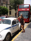 Vasilisa starting our tour through Guadalajara (near Zocalo)