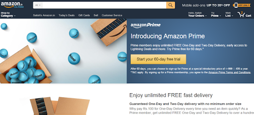 Amazon Prime offer – Activate Free Amazon Prime for 30 days to Get Free Delivery