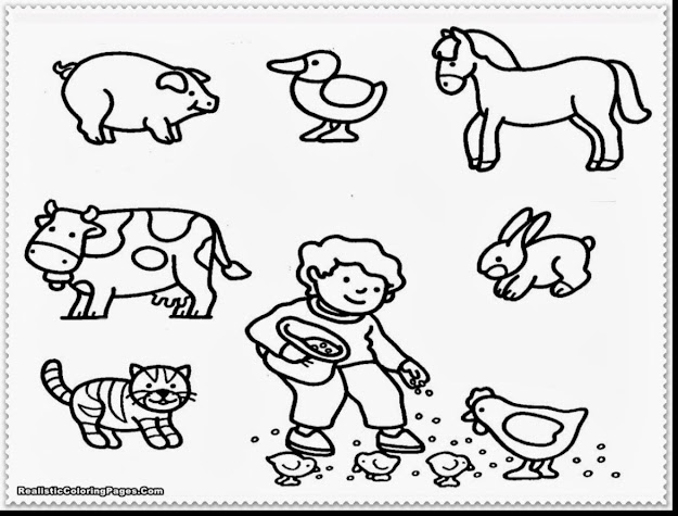 Great Farm Animals Coloring Pages Printable With Animal Coloring Page And Animal  Coloring Pages Hard
