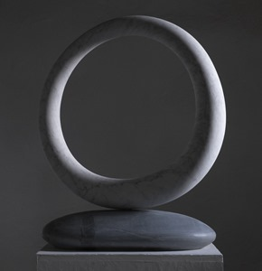 Aire: CARRARA MARBLE, 2016: W 59cm, H 68 cm, D 10 cm; currently being exhibited www.jmlondon.com