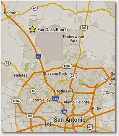 San Antonio, TX Map