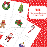 FREE Christmas Symbols 3 Part Cards