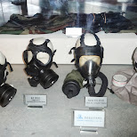gasmasks at War Memorial of Korea in Seoul in Seoul, Seoul Special City, South Korea