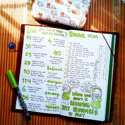 contoh bullet journal untuk ramadan