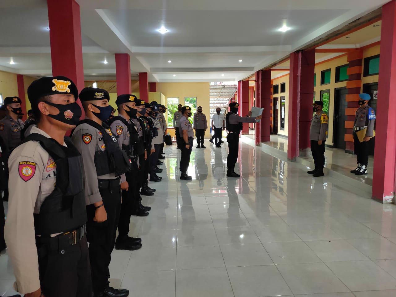 Kapolres Matim AKBP Nugroho Arie Siswanto  Siaga 70 personil Amankan Pilkada Manggari