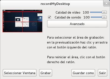 gtk-recordMyDesktop en Debian Wheezy