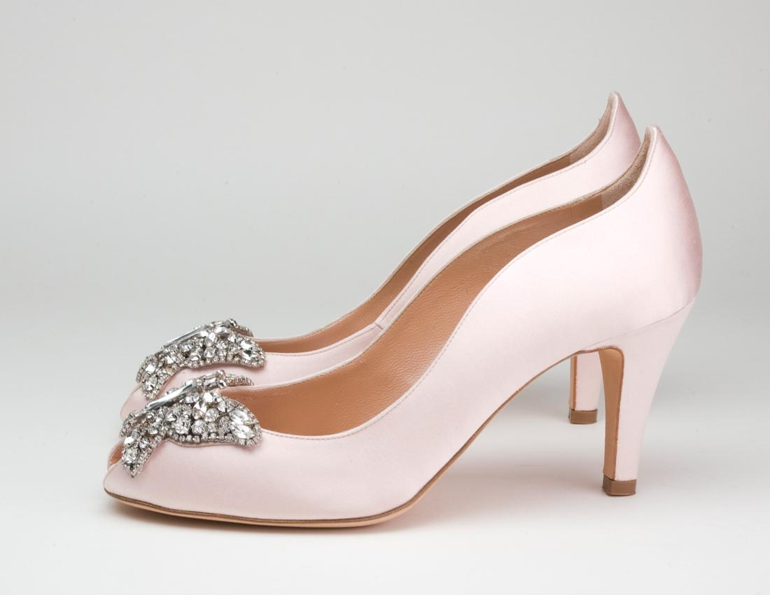 Pink Wedge Shoes For Wedding Images