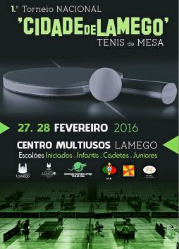 """Torneio Nacional de Ténis de Mesa """"Cidade de Lamego"""" - 27 e 28 de Fevereiro"""