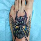 foot big bug - tattoos for women
