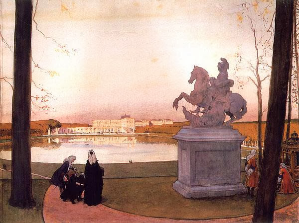 Alexandre Benois - Before the Statue of Curtius