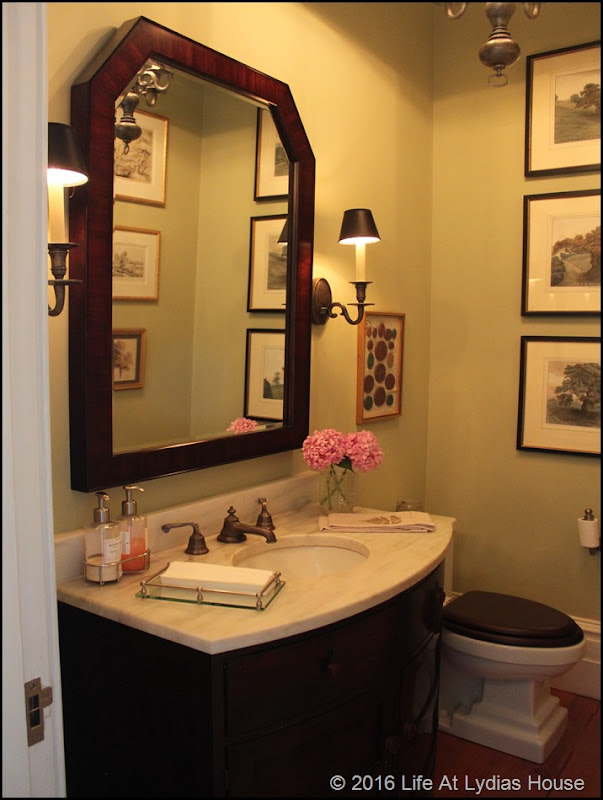 powder room on the first floor