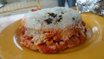Spam Kimchi Tuna Mayo Rice Burger