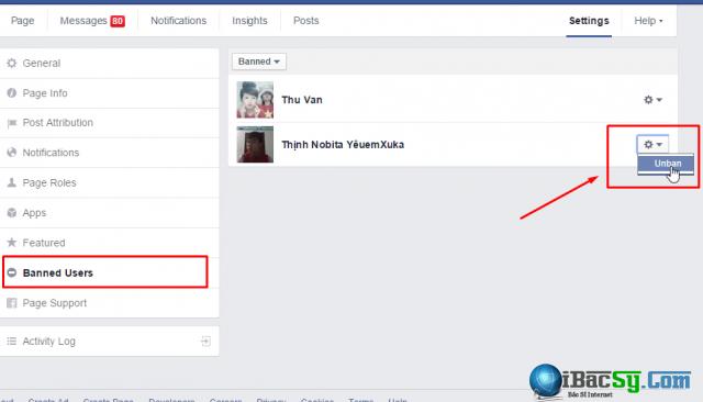 xóa vàn ban người dùng fanpage facebook