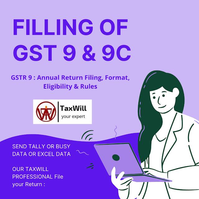 GSTR 9 : Annual Return Filing, Format, Eligibility & Rules