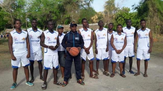 Incoming Kilifi Senator George Kithi photo with players
