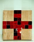 Kommunionkreuz für Judith, Detail, Glas 2003