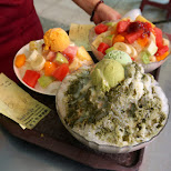 amazing Taiwanese shaved ice dessert in Kaohsiung, Kao-hsiung city, Taiwan