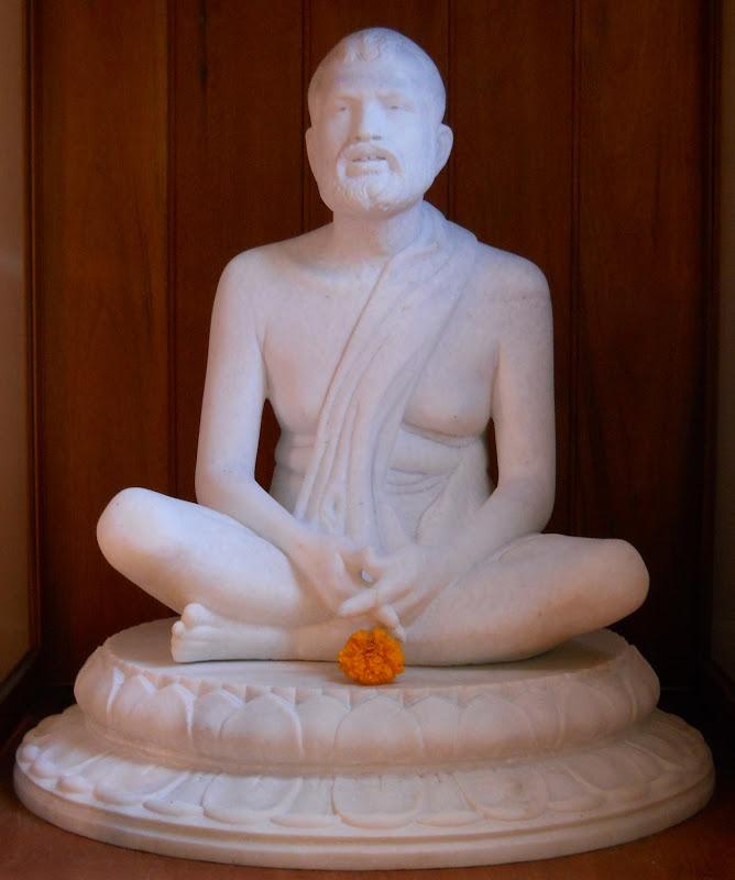 Statue of Sri Ramakrishna, waiting for the new temple