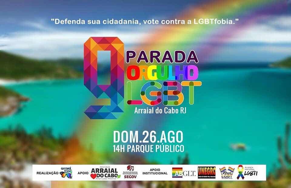 Parada do Orgulho LGBT de Arraial do Cabo será no domingo (26)
