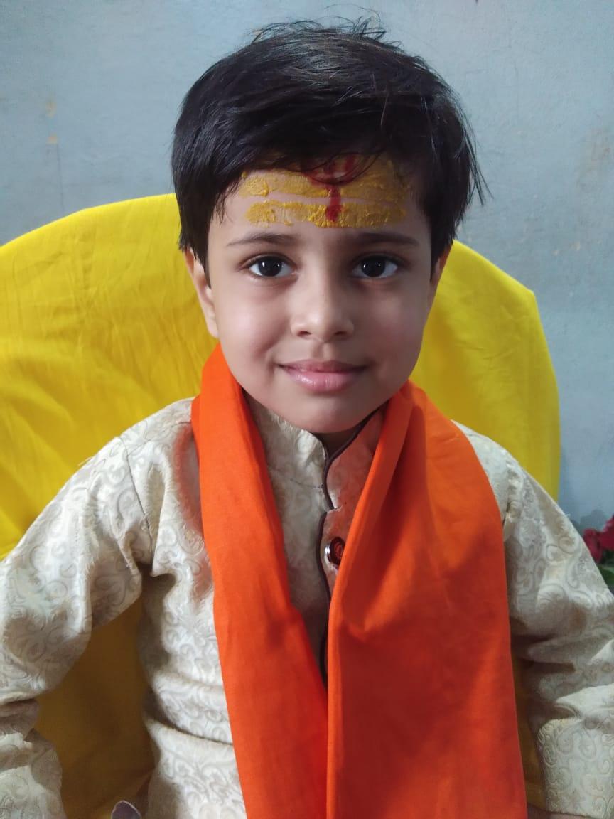 5 साल का अद्वैत अपनी तोतली जुबान से शिव तांडव स्तोत्र का करता है उच्चारण