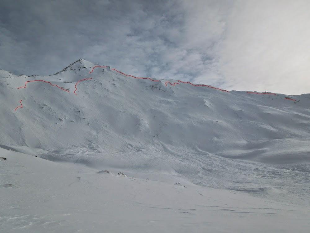 Avalanche Alpes Grées, secteur Pointe de Cugne - Photo 1