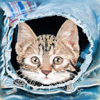 Un chaton en Jean's 40 x 40  Septembre 2004