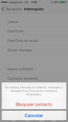 Bloquear contacto IOS7 - Paso3
