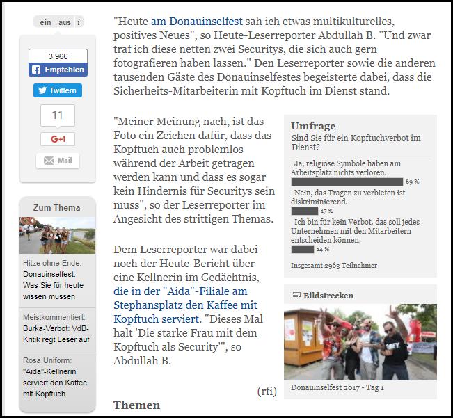 Abdullah Leserreporter Donauinselfest Umfrage