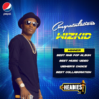 Wizkid, Pepsi, Headies award