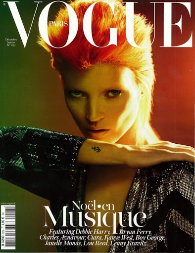 Kate Moss David Bowie - Vogue Paris diciembre 2011