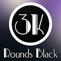 3K Rounds Black - Icon Pack icon