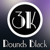 3K Rounds Black - Icon Pack