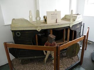 Госпорт. Музей Подводных Лодок. Макет американской подводной лодки 1895 года.