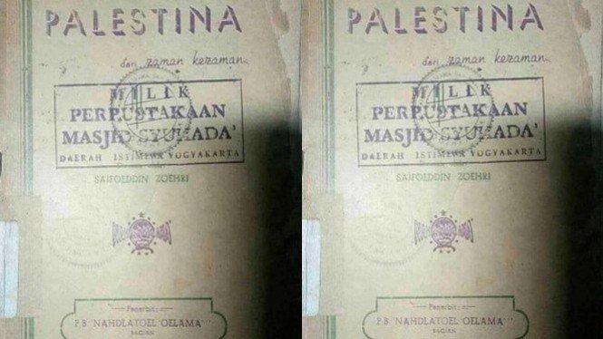 Beredar Buku Jadul NU Dukung Palestina, 27 Rajab Hari Palestina